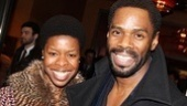Broadway veteran Roslyn Ruff (Fences) strikes a pose with Tony nominee Colman Domingo (The Scottsboro Boys).