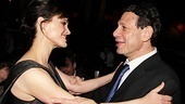 Carla Gugino and director Gordon Edelstein embrace after a thrilling opening night.