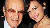 Carla Gugino celebrates opening night with her father, Carl Gugino, Jr., who flew in for the event.