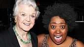 Celisse Henderson can't contain her excitement as she snaps a photo with Angela Lansbury.