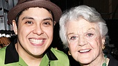 Angela Lansbury Backstage at Godspell  Angela Lansbury  George Salazar 