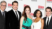 Musical Director Joel Silberman beams as bright as his talented stars Paulo Szot, Sierra Boggess, Nikki M. James & Brian d'Arcy James on the red carpet before Manhattan Theatre Club's winter benefit.