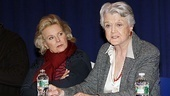 Candice Bergen looks on as five-time Tony winner Angela Lansbury chats about politics and theater.