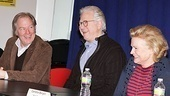 Castmates Michael McKean, John Larroquette and Candice Bergen share a laugh at the press conference.