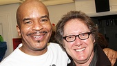 David Alan Grier eagerly welcomes his former Race co-star James Spader to Richard Rodgers Theatre.