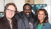Porgy and Bess bad guy Phillip Boykin makes nice with the evening's celebrity guests James Spader and Vanessa Williams. Be sure to catch Porgy and Bess at the Rodgers Theatre!