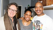 Porgy and Bess' leading lady Audra McDonald squeezes in for a photo with James Spader and her co-star David Alan Grier.
