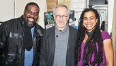Porgy and Bess' resident villain Phillip Boykin and the show's scribe Suzan-Lori Parks couldn't resist the opportunity to pose with Spielberg.