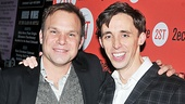 Norbert Leo Butz throws an arm around his versatile castmate Kevin Cahoon on opening night.