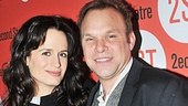 After sharing an intensely intimate story on stage, Elizabeth Reaser and Norbert Leo Butz happily share the opening night spotlight.