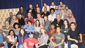 The entire Jesus Christ Superstar team poses for our camera. See them soon on stage at the Neil Simon Theatre!