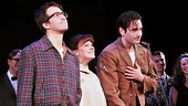 Lin-Manuel Miranda, Celia Keenan-Bolger and Colin Donnell are overwhelmed by the audience reaction.