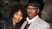 After her successful Broadway run in The Mountaintop, Angela Bassett enjoys a theater date in L.A. with her husband, Broadway vet Courtney B. Vance.