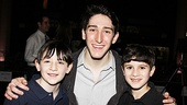 In Newsies, Ben Fankhauser plays big brother Davey to Matthew Schechter and Lewis Grosso.