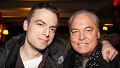 The men of Other Desert Cities, Justin Kirk and Stacy Keach, pal around at the Sardi's reception.