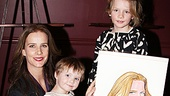 Rachel Griffiths shares a sweet Sardi's moment with her two adorable daughters Clementine Grace and Adelaide Rose.