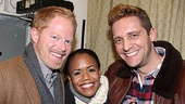 Nikki Renée Daniels is all smiles with Modern Family's Jesse Tyler Ferguson and Colin Hanlon.