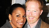 Audra McDonald and Jesse Tyler Ferguson are visions in gray.