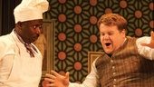 Trevor Laird and James Corden in One Man, Two Guvnors.