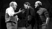 Philip Seymour Hoffman as Willy Loman, Andrew Garfield as Biff Loman and Finn Wittrock as Happy Loman in Death of a Salesman.