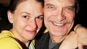 It's an emotional farewell for Sutton Foster and her co-star Walter Charles (Captain).