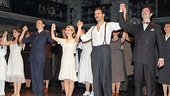 All of Evita's stars  Rachel Potter, Michael Cerveris, Elena Roger, Ricky Martin and Max von Essen soak in the applause.