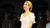 Elena Roger takes her first bow on Broadway as the star of Evita.