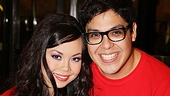 Anna Maria Perez de Tagle and George Salazar grabbed slices from the Godspell side of the cake, of course.