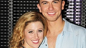 Caissie Levy and Richard Fleeshman have been falling in love onstage since Ghost began in London, and they are still loving one anothers company. 