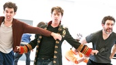 Peter and the Starcatcher Rehearsal  Adam Chanler-Berat  Christian Borle  Kevin Del Aguila