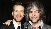 Rock star Jesus Paul Nolan poses with real-life rocker Wayne Coyne, frontman of the band The Flaming Lips.
