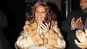 Aretha Franklin applauds the cast of Porgy and Bess for a job well done.