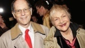 Estelle Parsons (who just began performances in Nice Work If You Can Get It) is accompanied by her husband Peter Zimroth on the rainy opening night.