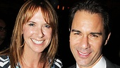 "Eric McCormack shares a snapshot with his lovely wife, Janet Holden. ""Tonight, my nervousness was [for] my friends and my wife being out there,"" McCormack told Broadway.com. ""I had a great time."""