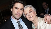 "Angela Lansbury enjoys her big night with her grandson, Peter Shaw. ""It felt very, very comfortable tonight,"" Lansbury said of the opening performance. ""I love the relevancy of [the play] to what we're observing today in our political arena."""