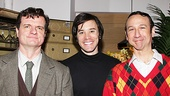 Backstage and still in costume, Michael Cumpsty, Tom Pelphrey and Jay Russell are savoring the opening night ovation!