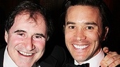 Richard Kind congratulates Tom Pelphrey on his powerful performance as Garlands fiance, Mickey Deans.