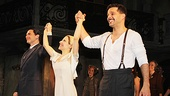Evita headliners Michael Cerveris, Elena Roger and Ricky Martin take their opening night bows.
