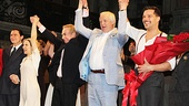 Creators Andrew Lloyd Webber and Tim Rice join the cast onstage for a triumphant bow.