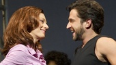Jessica Phillips as Marla and Raul Esparza as Jonas Nightingale in Leap of Faith.