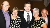 One Man, Two Guvnors opening night  James Corden and family 