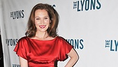 Lady in red! The Lyons star Kate Jennings Grant is a vision in red.