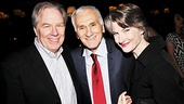 Michael McKean smiles with his former Hairspray husband Dick Latessa and his real-life wife Annette O'Toole.