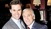 Book of Mormon star Andrew Rannells congratulates Dick Latessa.
