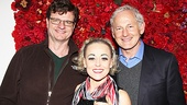 Tracie Bennett is flanked by co-star Michael Cumpsty and Victor Garber (who played Sid Luft in the 2001 miniseries Life with Judy Garland: Me and My Shadows).