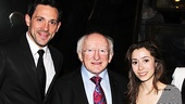 Once stars Steve Kazee and Cristin Milioti are delighted to welcome Irish president Michael D. Higgins to their Broadway home. 
