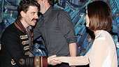 Emily Blunt congratulates Christian Borle on his Tony-nominated performance as Black Stache.