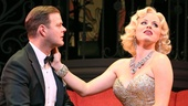 Clarke Thorell as Gus Esmond, Jr. and Megan Hilty as Lorelei Lee in Gentlemen Prefer Blondes.