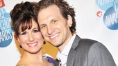 Anything Goes nominee Stephanie J. Block walks the red carpet on the arm of her husband, actor Sebastian Arcelus.