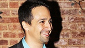 Theater fave Lin-Manuel Miranda lights up as he presents Sons of the Prophet with the award for Best Play.